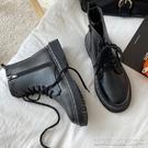 平底短靴馬丁靴女英倫風新款平底百搭短靴潮ins瘦瘦靴網紅春秋單靴 【快速出貨】