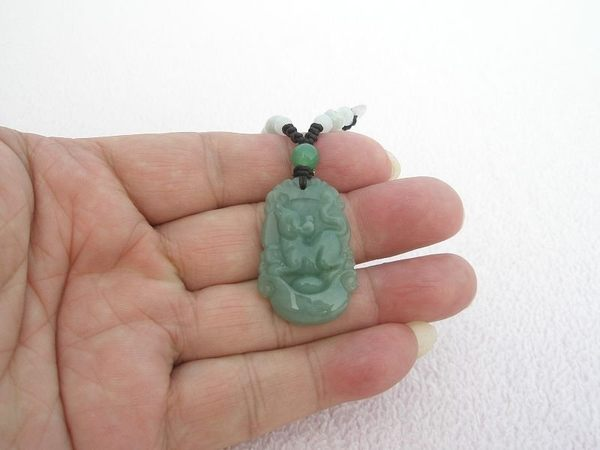 【歡喜心珠寶】【生肖鼠元寶如意玉墜】天然緬甸翠玉雕「A貨附保証書」精雕生肖鼠守護神