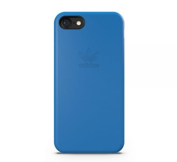 【adidas】iPhone 7/i7(4.7吋)-藍色 slim case 純色矽膠超薄 雙材質保護殼