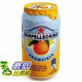 [COSCO代購] San 聖沛黎洛 氣泡水果飲料 甜橙口味 330毫升 X 24罐 _W108310