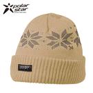 Polarstar 反摺橫條羊毛保暖帽 P13606『卡其』