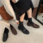 牛津鞋黑色深色小皮鞋內絨秋冬新品英倫復古切爾西低幫鞋單鞋女鞋牛津鞋 新年禮物