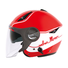 【東門城】ZEUS ZS612A AD1(紅白) 半罩式安全帽 雙鏡片