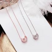 網紅同款頸鍊鎖骨鍊百搭簡約日韓國裝飾頸鍊星星月亮項鍊女