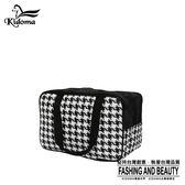 手提袋-編織餐袋系列-黑白千鳥-03A