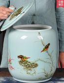 小鄧子茶罐茶叶罐大号手绘陶瓷存茶储茶密封缸醒茶摆件茶仓茶饼七子饼罐