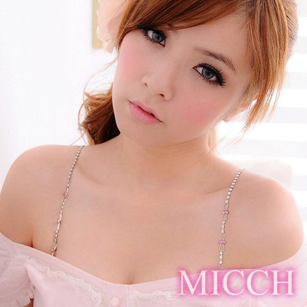 MICCH 櫻桃長鑽閃耀捷克鑽石肩帶(百搭黑織帶)