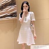 2020夏天新款性感洋裝女心機小個子修身顯瘦短袖氣質針織裙子潮  中秋特惠