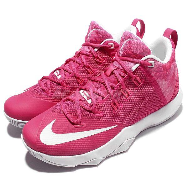 Nike 籃球鞋 Ambassador IX 粉紅 白 Kay Yow 乳癌防治 大使 9代 男鞋 【PUMP306】 852413-606