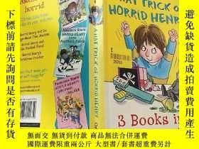 二手書博民逛書店a罕見hat trick of horrid henry 可怕的亨利的帽子戲法. .Y200392