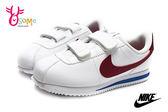 NIKE阿甘鞋 童鞋 現貨 正版 原廠配色 Cortez Basic SL 復古慢跑鞋O7032#白紅◆OSOME奧森童鞋