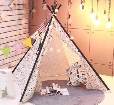 遊戲帳篷兒童游戲室內帳篷印第安兒童帳篷室內游戲屋兒童玩具igo 貝兒鞋櫃