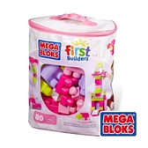 MEGA BLOKS-美高80片積木袋(粉)[衛立兒生活館]