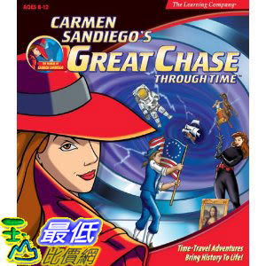 [美國直購 ShopUSA] Carmen Sandiego's Great Chase Through Time (Jewel Case) by The Learning Company $719