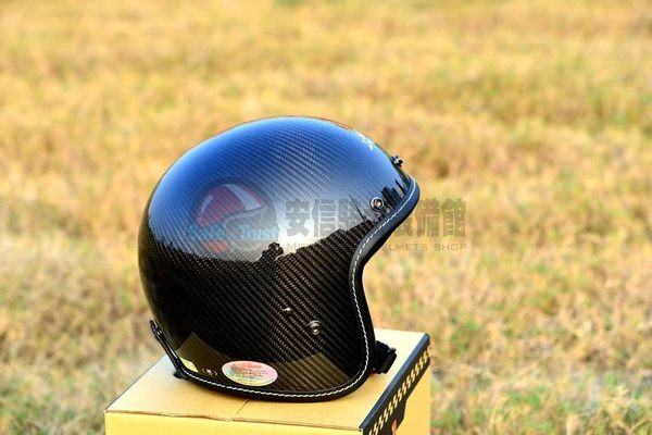 [中壢安信] M2R XF-1 XF1 碳纖原色 碳纖維 復古帽 半罩 安全帽 66公路 美式機車 復古 偉士牌