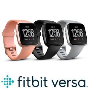 【Fitbit】VERSA 智能運動手錶 經典款(銀色框灰錶帶)