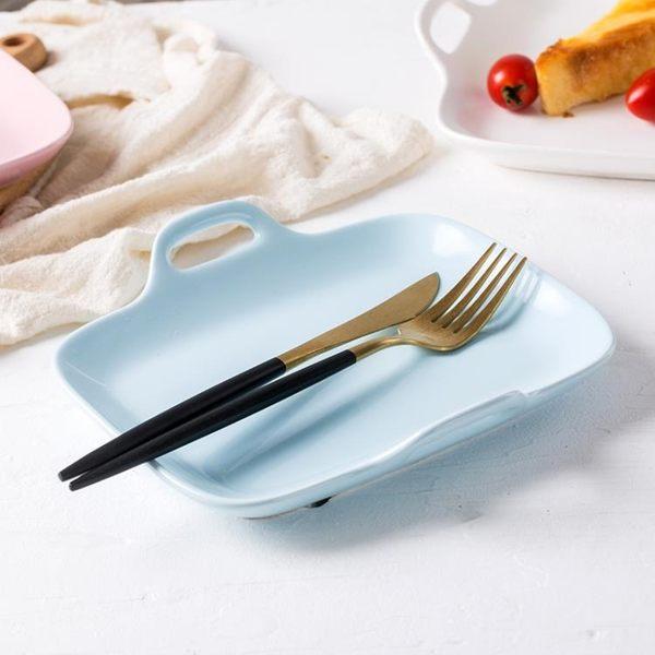 【618好康鉅惠】長方形盤子雙耳陶瓷烤盤焗飯盤家用