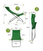 折疊躺椅午休帆布沙灘戶外通用GZG4042【每日三C】