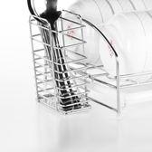 瀝碗碟架碗架瀝水架不銹鋼廚房置物架碗筷單層晾放碗盤 亞斯藍