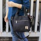 Catsbag|極輕量多隔層二用方包側背手提斜背包媽媽包1854