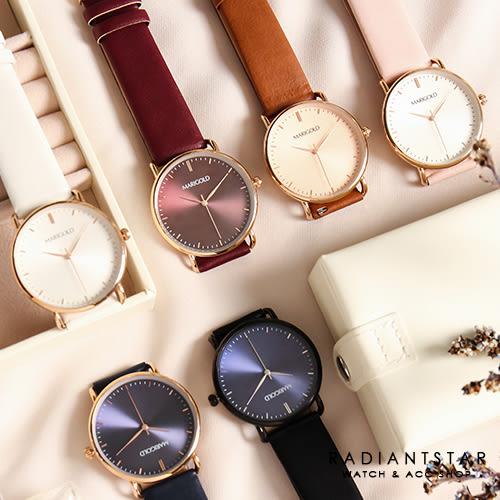 正韓MARIGOLD許諾時間的旅行真皮手錶對錶單支情人禮閨蜜禮【WMD041】璀璨之星☆