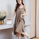 背心裙 無袖洋裝 吊帶裙S-3XL復古冷...