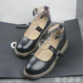 娃娃鞋 女鞋淺口圓頭學生小皮鞋原宿風洛麗塔鞋子平底單鞋可愛少女軟妹鞋 綠光森林