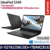 【Lenovo】 IdeaPad S340 81N90029TW 14吋i5-10210U四核256G+1TB SSD效能MX230獨顯輕薄筆電-特仕版