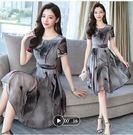 促销不退换氣質連身裙S-2XL洋裝300...