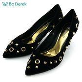 ~ ~~Bo Derek ~圓孔鉚釘高跟鞋黑