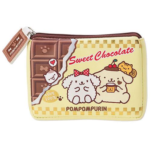 《Sanrio》布丁狗濃情巧克力系列PU皮革板巧克力風面紙化妝包 543021