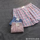 【GIORDANO】男裝純棉寬鬆平底四角褲(三件裝)-67 直條紅/格紋藍