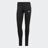 Adidas ESSENTIALS 女裝 長褲 緊身 慢跑 訓練 彈性 棉質 黑【運動世界】GL0723