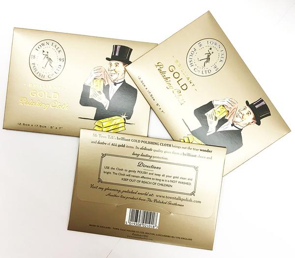 (小) 英國百年Town Talk擦拭 (黃)金 清潔布 gold polishing cloth