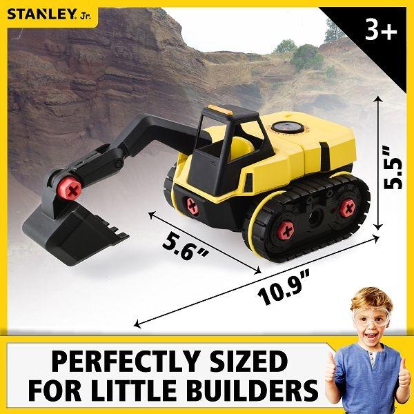 美國 STANLEY Jr. 組裝工程車-挖土機 聖誕禮物
