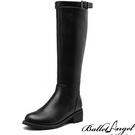 長靴 經典側拉鍊騎士靴(黑)* BalletAngel【18-A996bk】【現+預】