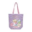 小禮堂 角落生物 直式尼龍側背袋 扣式側背袋 尼龍托特包 手提袋 書袋 (紫 睡衣) 4990270-13033