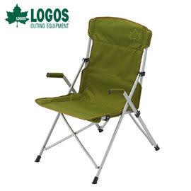 丹大戶外 日本【LOGOS】Neos 高背餐椅 綠 73174033