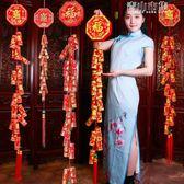 豬年春節新年裝飾用品鞭炮串年貨掛飾過年掛件室內客廳場景布置YYJ 青山市集