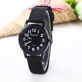 兒童手錶 兒童手表女孩時尚男孩帆布學生大童小孩子數字電子指針式腕表