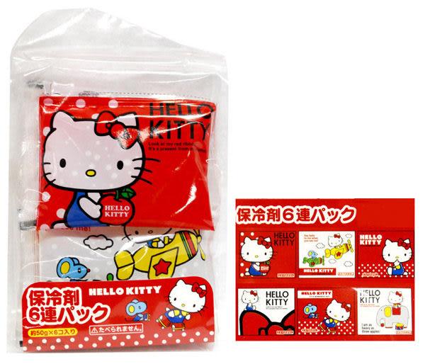 日本製[興洋] 卡通6連保冷劑1組 約300g / 紅Kitty.哆啦A夢.醜比頭家族.不二家.史奴比