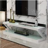 鋼化玻璃烤漆電視櫃茶幾組合客廳簡約現代小戶型迷你簡易電視機櫃igo    韓小姐的衣櫥