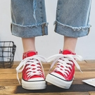夏季新款韓版高幫帆布鞋女鞋子ulzzang布鞋百搭學生小白板鞋 雙12全館免運