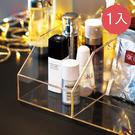 【日本霜山】無分隔透明壓克力/冰箱/桌上/化妝品小物收納盒-1入(高硬度 文具 保養 瓶罐 日系)