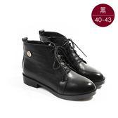 中大尺碼女鞋  個性綁帶造型鉚扣短靴/靴子  40-43碼 172巷鞋舖【TL60221】