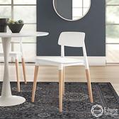 E home Fido 菲朵北歐實木腳 餐椅兩色 白色