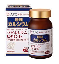 專品藥局 日本AFC 菁鑽系列 新珊瑚鈣S 膠囊食品 120粒 (海中鈣礦,補給配方大集合) 【2006855】