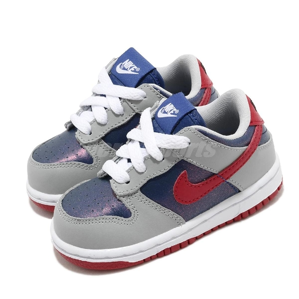 Nike 滑板鞋 Dunk Low SP TD Samba 灰 藍 小童鞋 低筒 經典配色 復刻 運動鞋【ACS】 DB4605-400