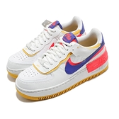 Nike 休閒鞋 Wmns Air Force 1 Shadow 白 黃 藍 女鞋 解構設計 拼接 AF1 運動鞋 【ACS】 CI0919-105