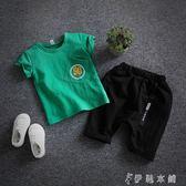 男童夏裝新款套裝韓版潮夏季寶寶短袖小孩夏天衣服時尚   伊鞋本鋪